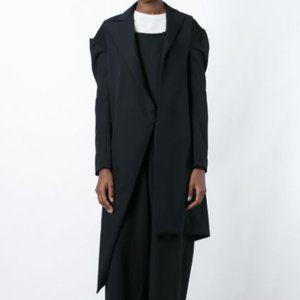 New YOHJI YAMAMOTO Wool Asymmetric Long Coat